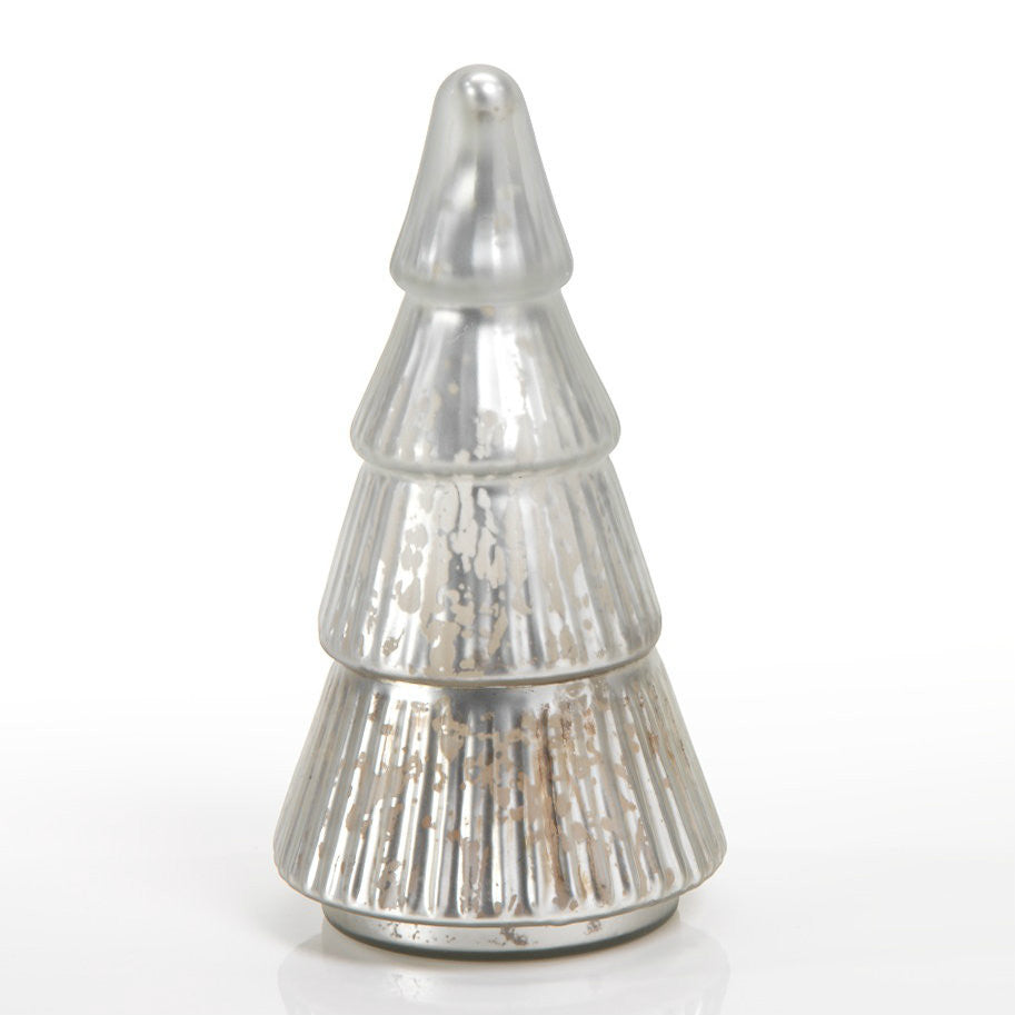 Mercury Glass Scented Candle Tree - Silver - Frosted Silver - CARLYLE AVENUE - 2