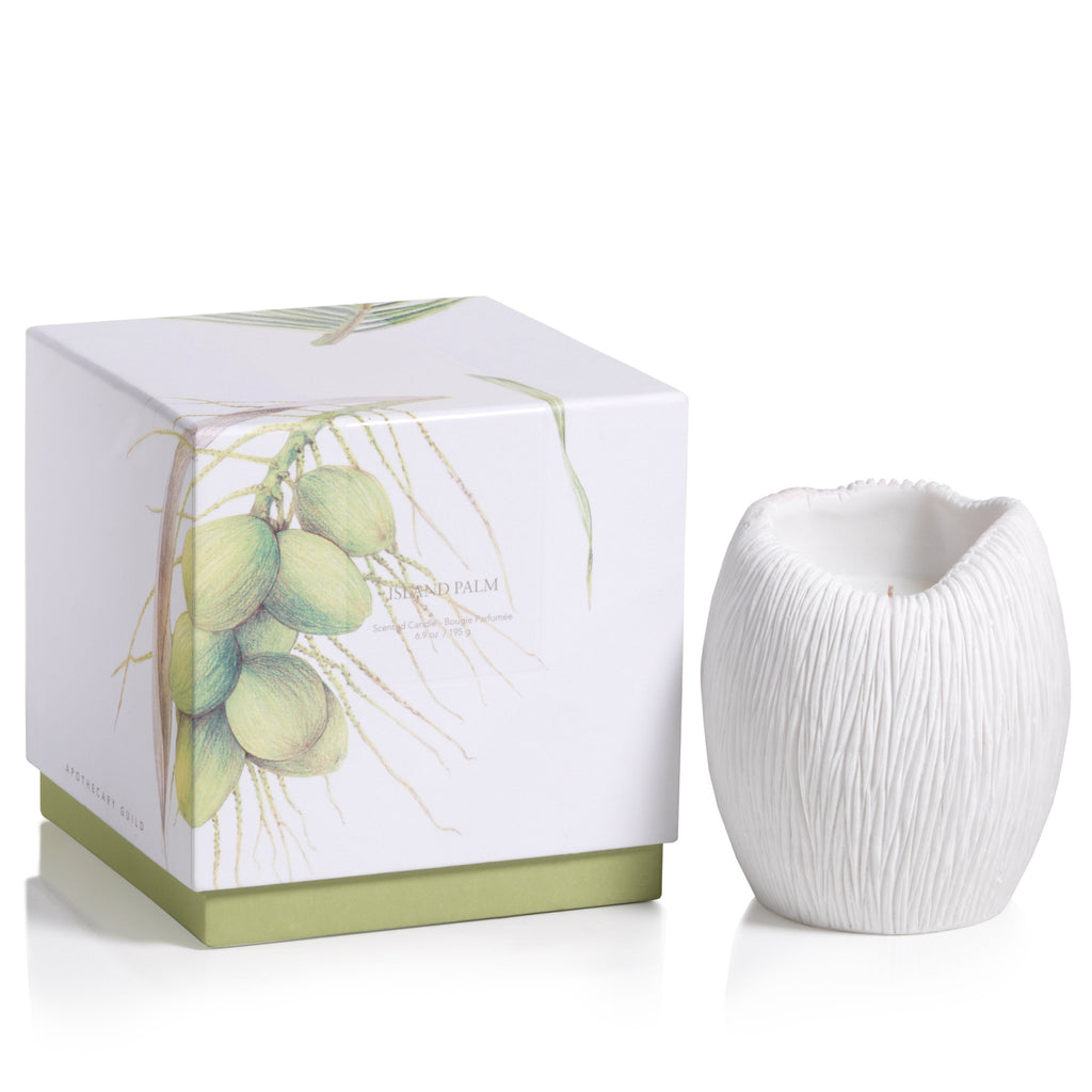 Apothecary Guild Sandstone Scented Candle - Island Palm - CARLYLE AVENUE