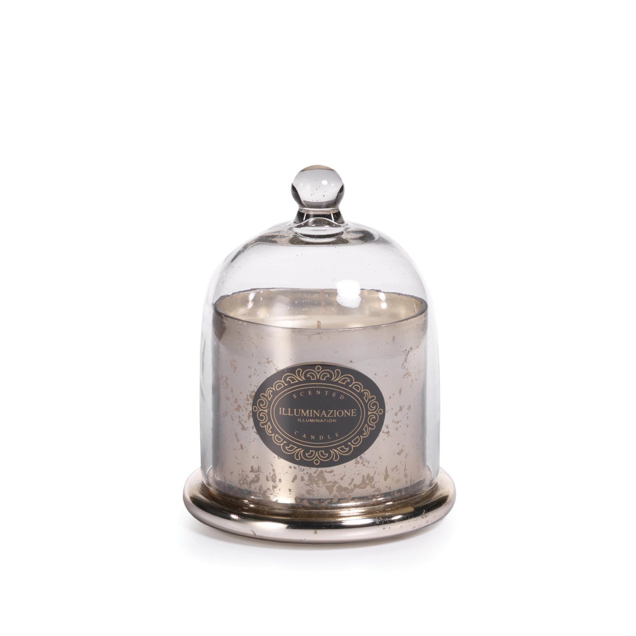 Illuminazione Wax Filled Mercury Glass Jar with Cloche - French Vanilla Orchid -  - CARLYLE AVENUE