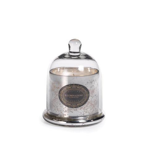 Illuminazione Wax Filled Mercury Glass Jar with Cloche - French Red Currant