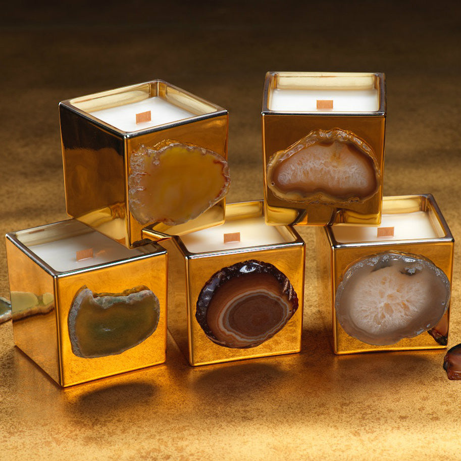 Apothecary Guild Mineral Agate Candle Jars - CARLYLE AVENUE
