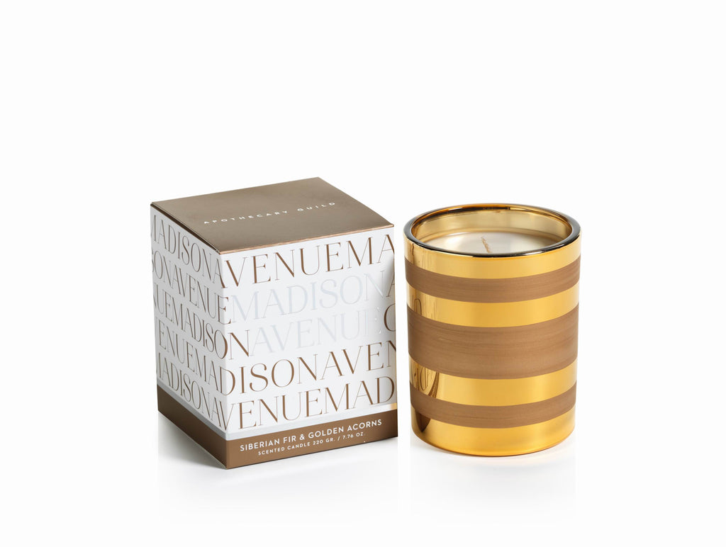 Madison Avenue Candle Jars - Siberian Fir & Golden Acorns - CARLYLE AVENUE - 2