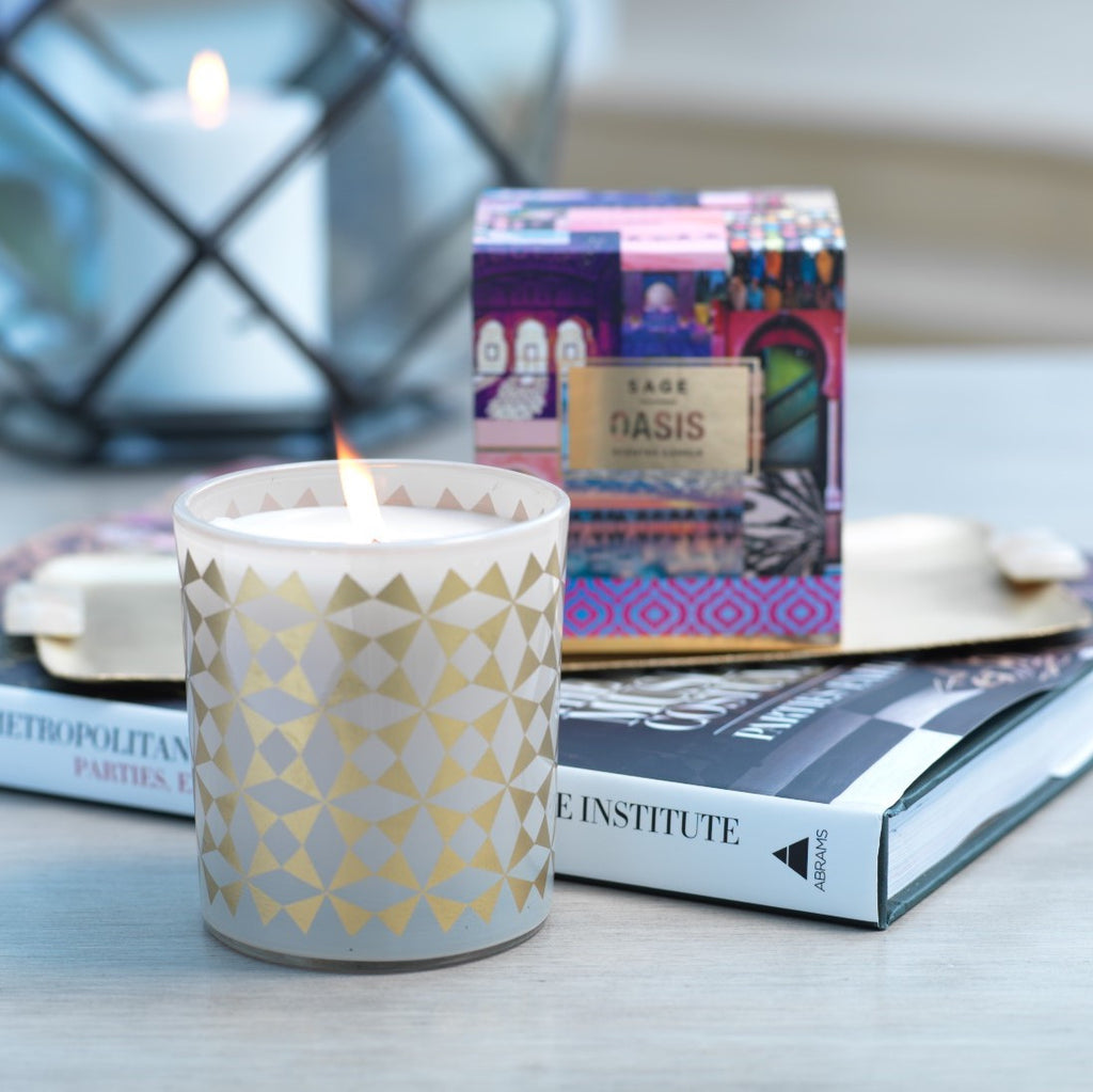 Sage Scented Candle - Oasis