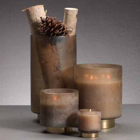 Cortina Scented Candle Jars and Hurricane - Taupe