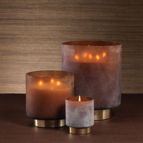 Cortina Scented Candle Jars and Hurricane - Amber
