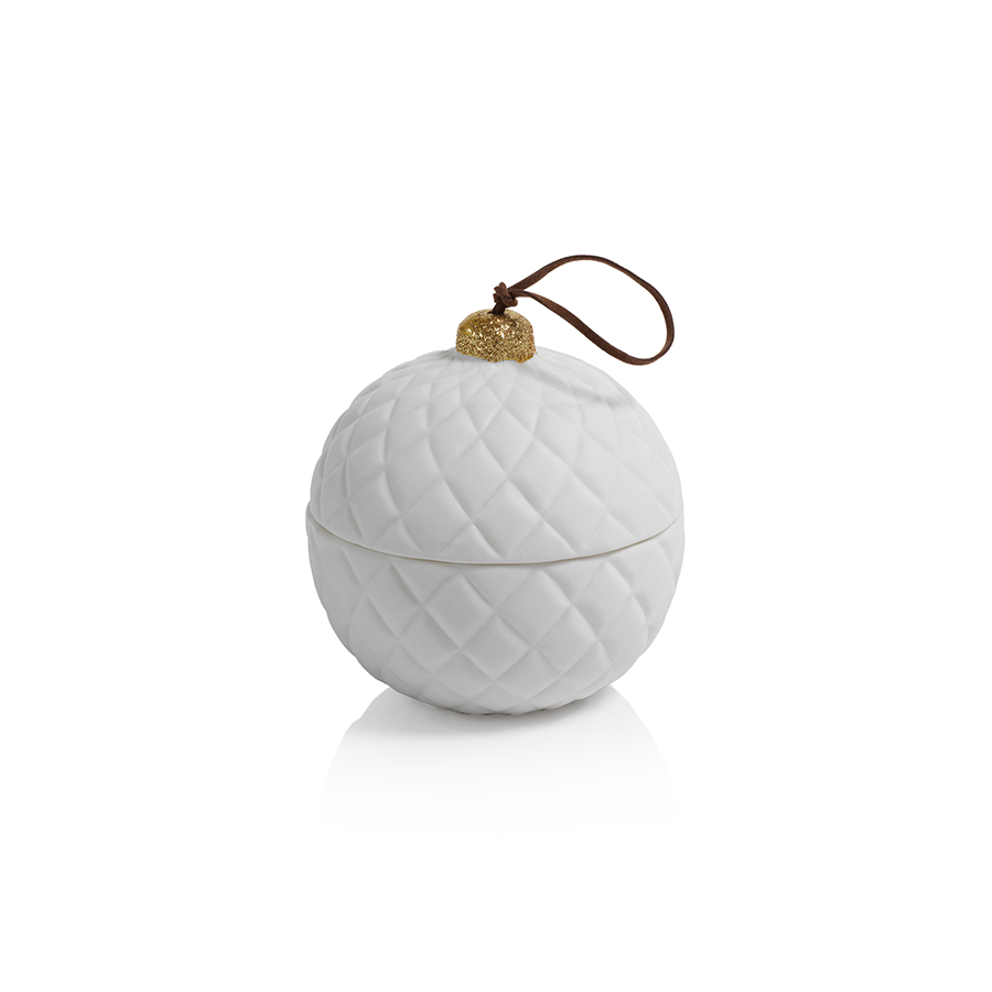 Porcelain Round Ornament Candle