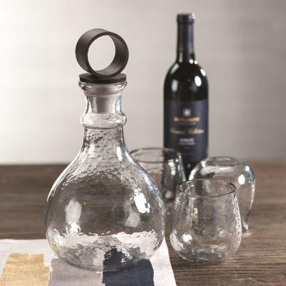 Artisan Hammered Glass Decanter - CARLYLE AVENUE