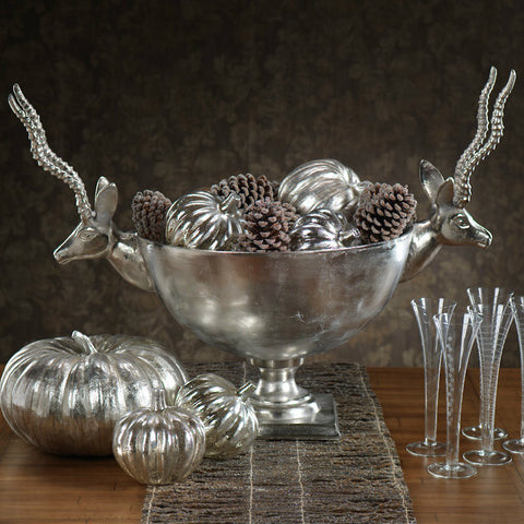 Raw Aluminum Reindeer Bowl / Champagne Cooler