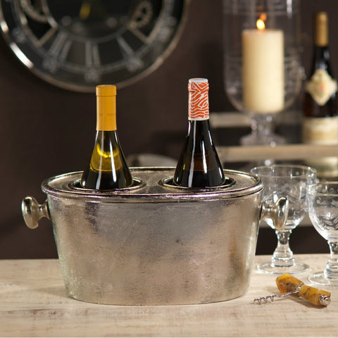 Raw Aluminum Wine Holder