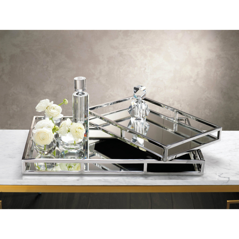 Rectangular Mirrored Tray - CARLYLE AVENUE
