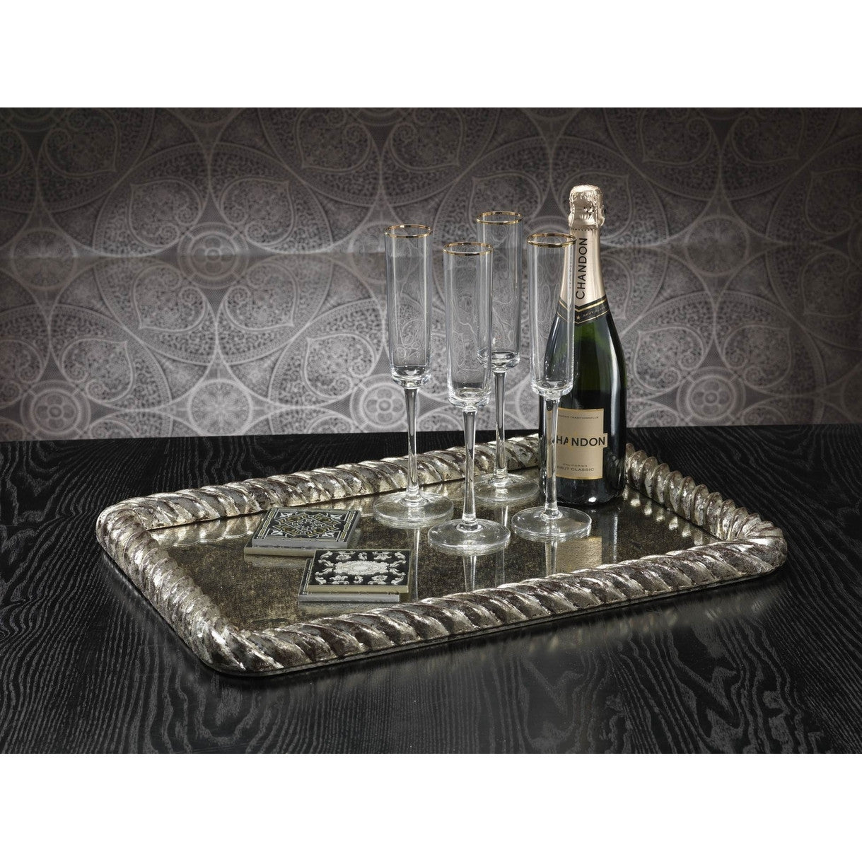 Saint Ouen Antique Silver Serving Tray -  - CARLYLE AVENUE - 2