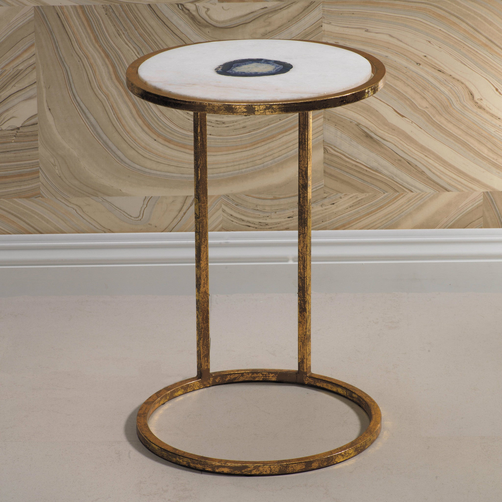 Aquarius Agate and Marble Inlay Table - CARLYLE AVENUE