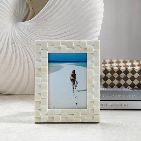 Ivory Coast Bone Inlay Photo Frame