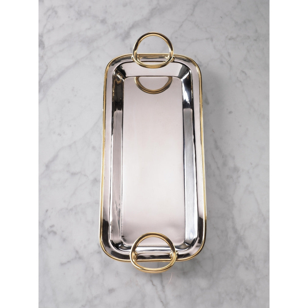 Polished Nickel & Gold Precious Long Trays -  - CARLYLE AVENUE - 2