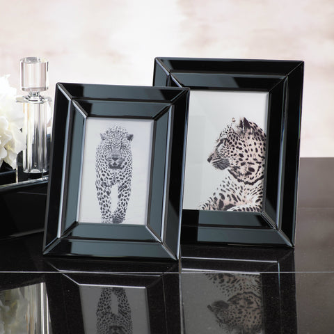 Smoke Beveled Glass Photo Frame