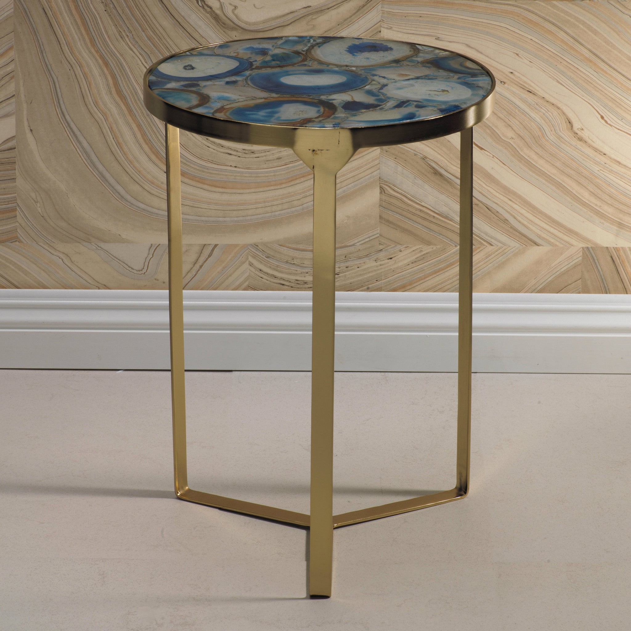 La Sardaigne Blue Agate End Table -  - CARLYLE AVENUE - 2
