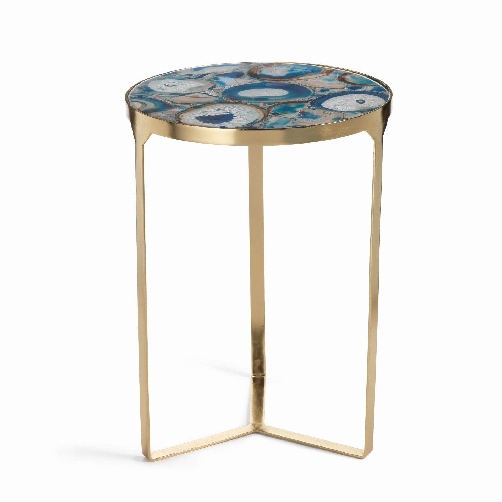 La Sardaigne Blue Agate End Table -  - CARLYLE AVENUE - 1