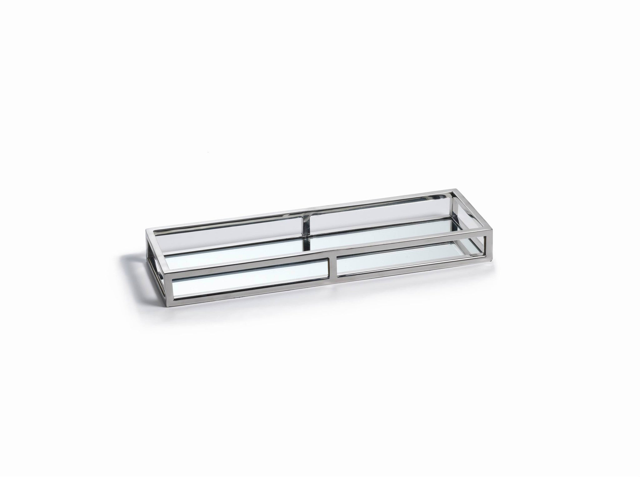 Rectangular Narrow Mirrored Tray - CARLYLE AVENUE