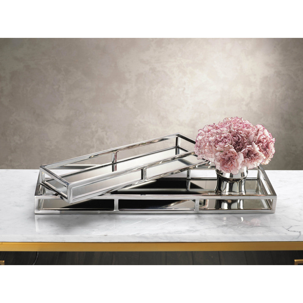 Rectangular Narrow Mirrored Tray -  - CARLYLE AVENUE - 1