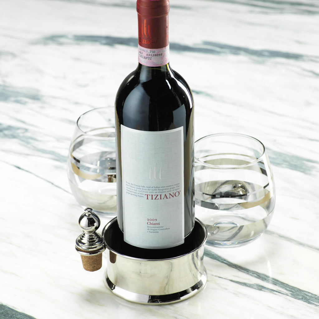 Vondel Wine Bottle Coaster with Stopper -  - CARLYLE AVENUE - 2
