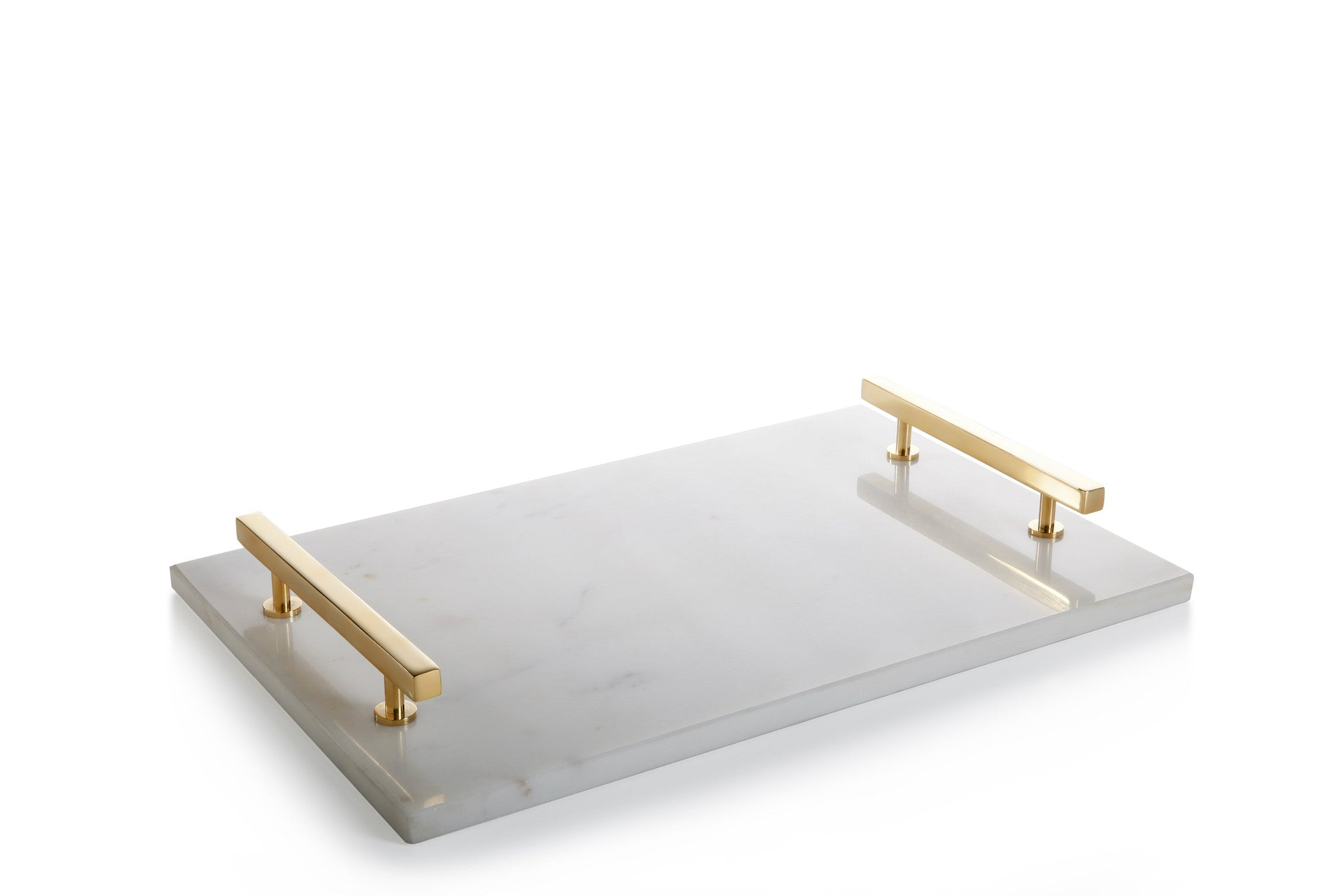 Rectangular Marble Tray with Gold Handles -  - CARLYLE AVENUE - 2
