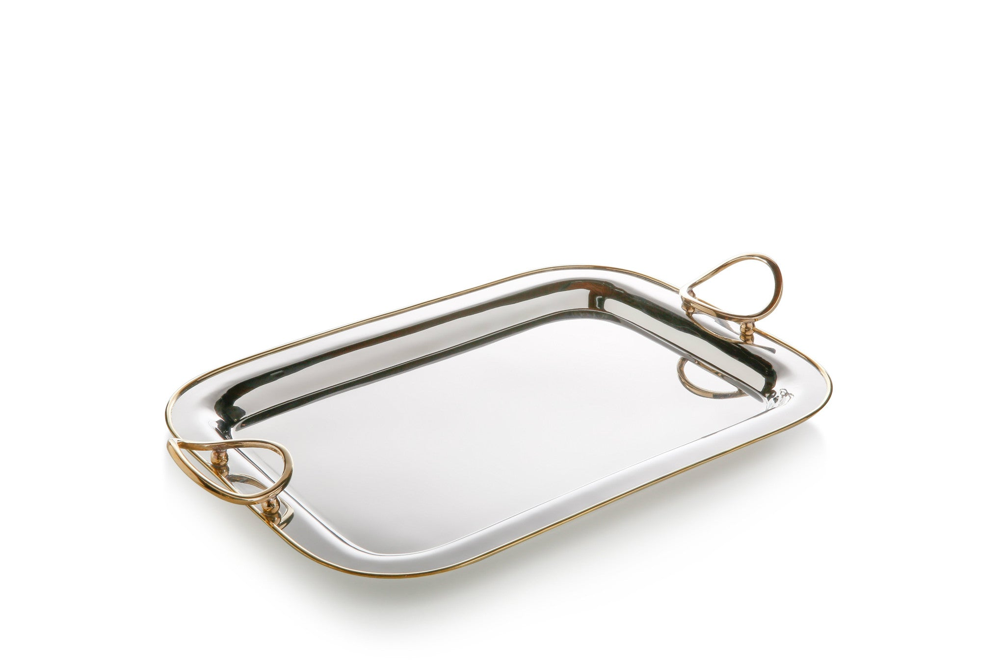 Polished Nickel & Gold Precious Tray - CARLYLE AVENUE