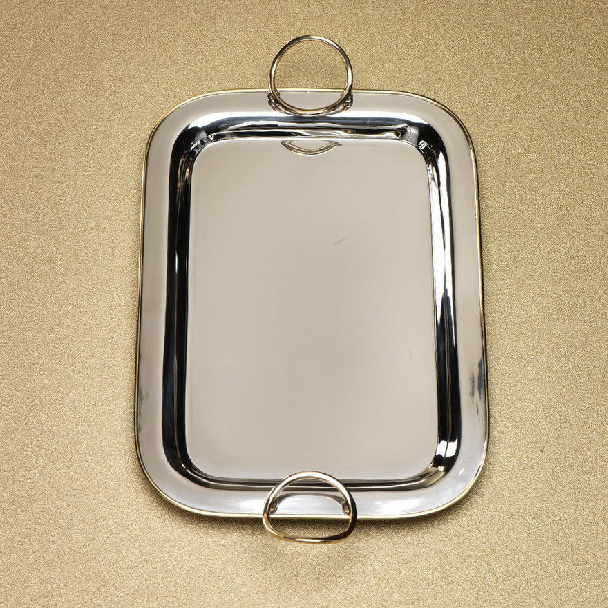 Polished Nickel & Gold Precious Tray -  - CARLYLE AVENUE - 1