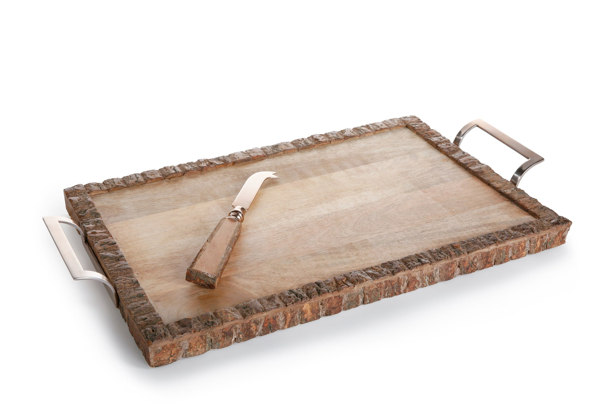 Aspen Wood Tray with Cheese Set - CARLYLE AVENUE