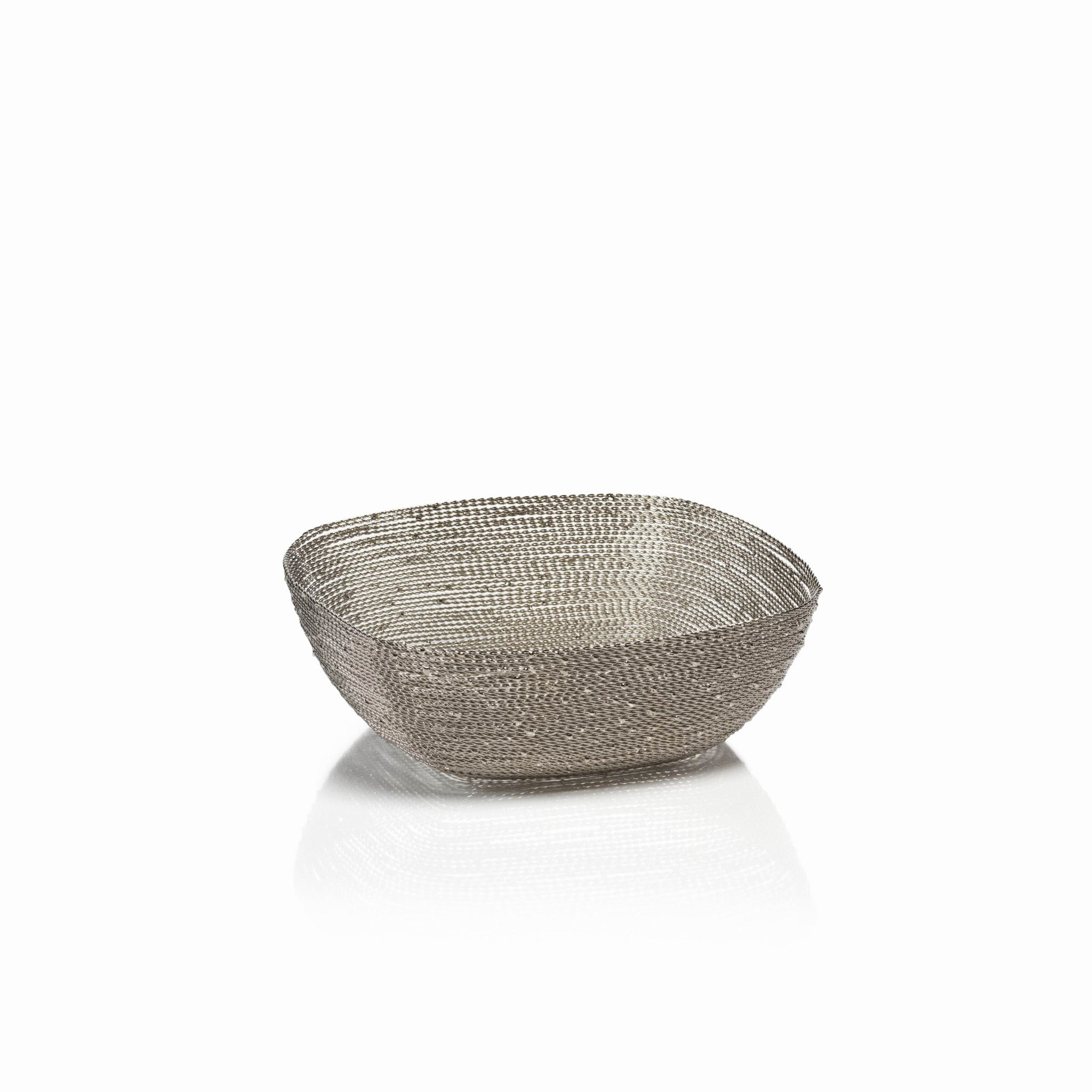 Zulu Woven Wire Basket - Square / Small - CARLYLE AVENUE - 4