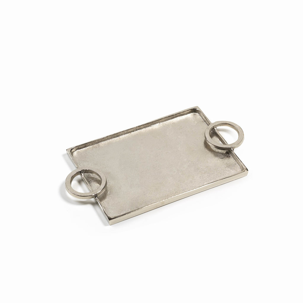 Mazatlan Raw Aluminum Serving Tray - Small and Large - Small - CARLYLE AVENUE - 3
