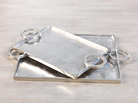 Mazatlan Raw Aluminum Serving Tray - Small and Large