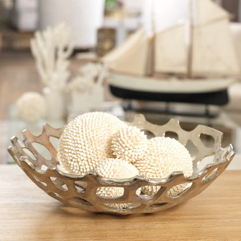 Coral Raw Aluminum Deep Bowl