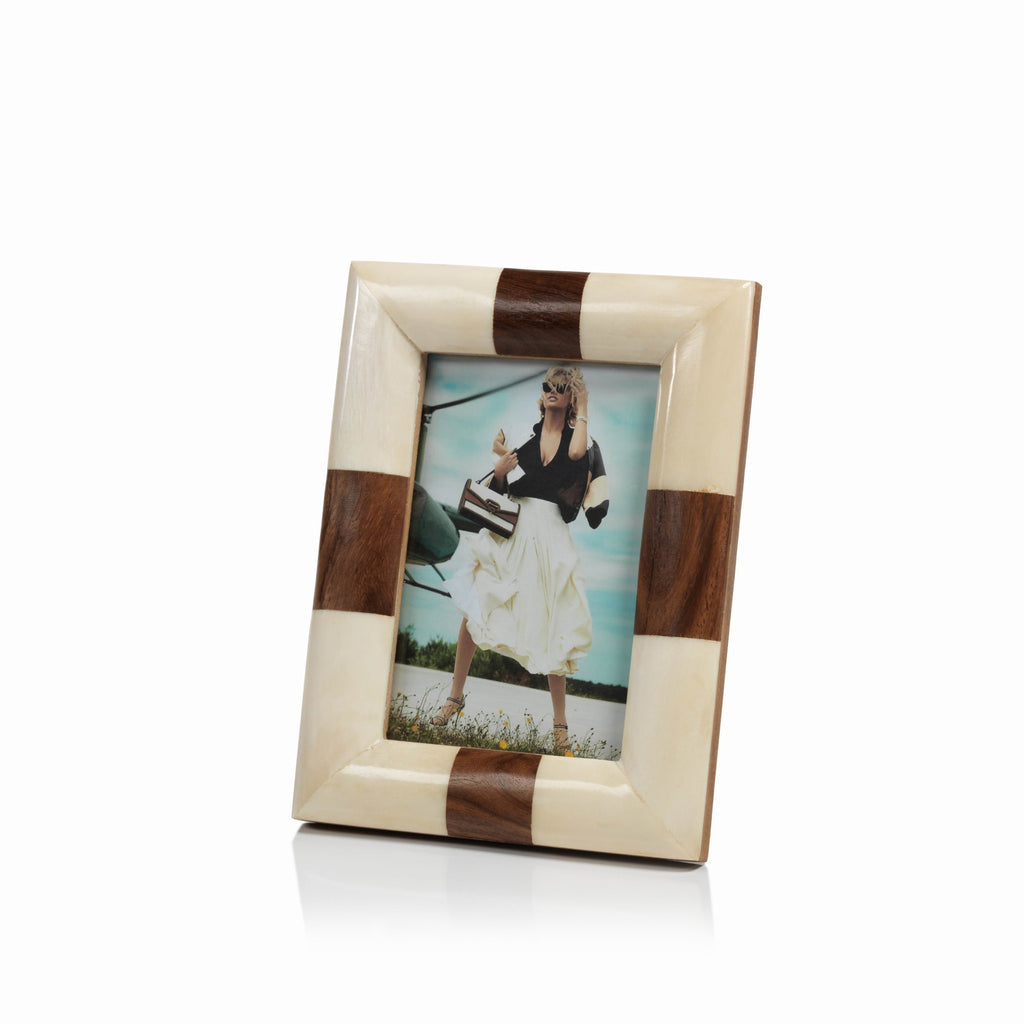 Kenya White Bone Photo Frame