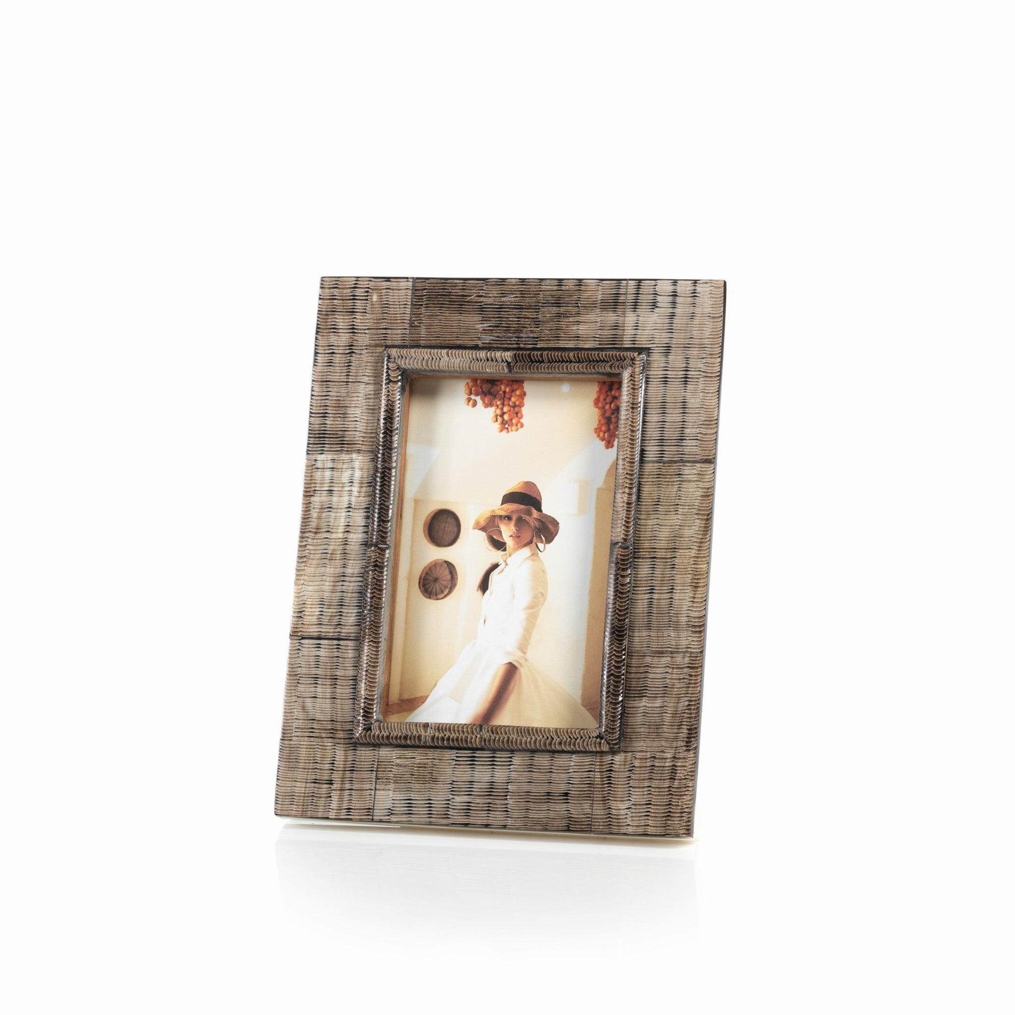 Safi Bone & Shagrin Horn Photo Frame - CARLYLE AVENUE
