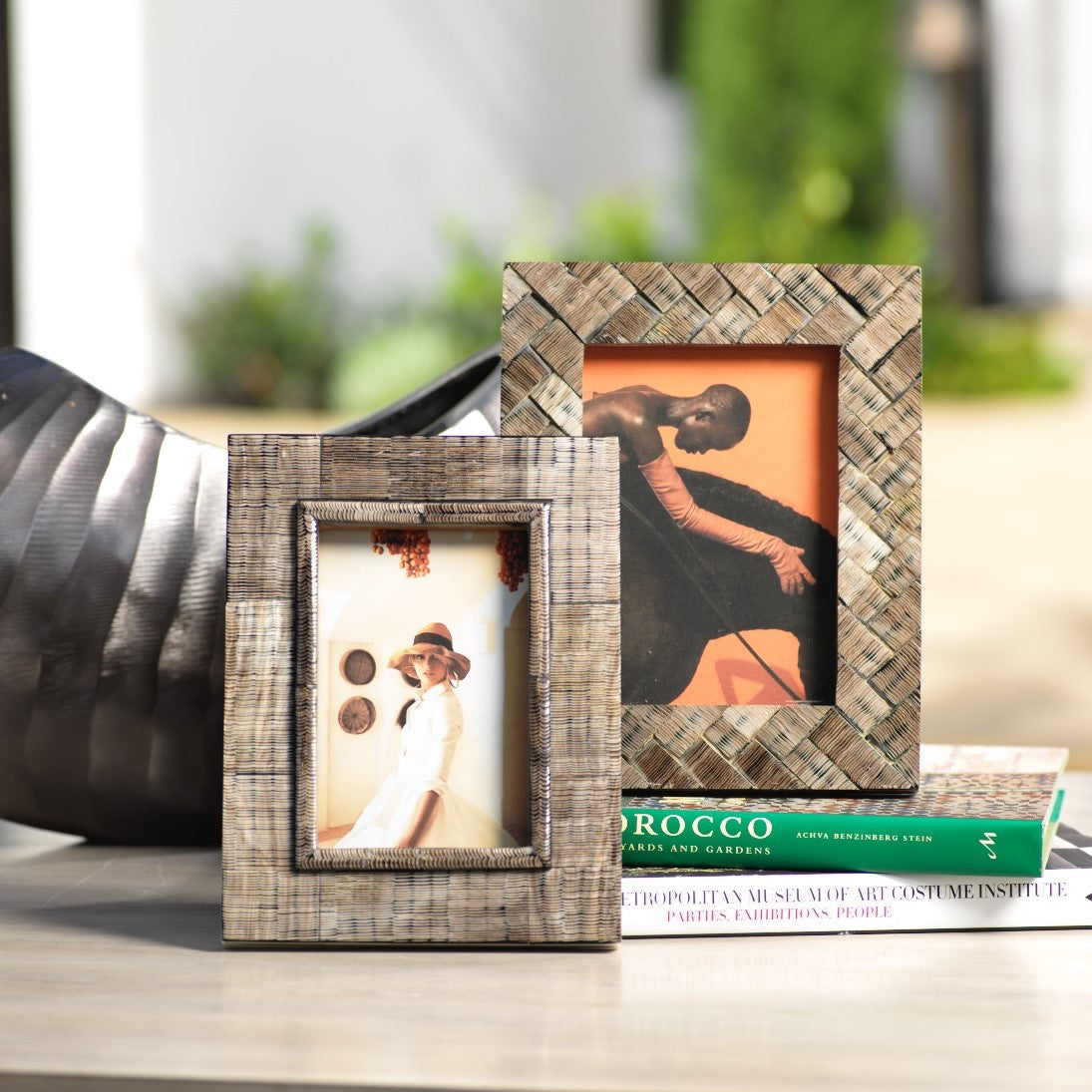 Safi Bone & Shagrin Horn Photo Frame