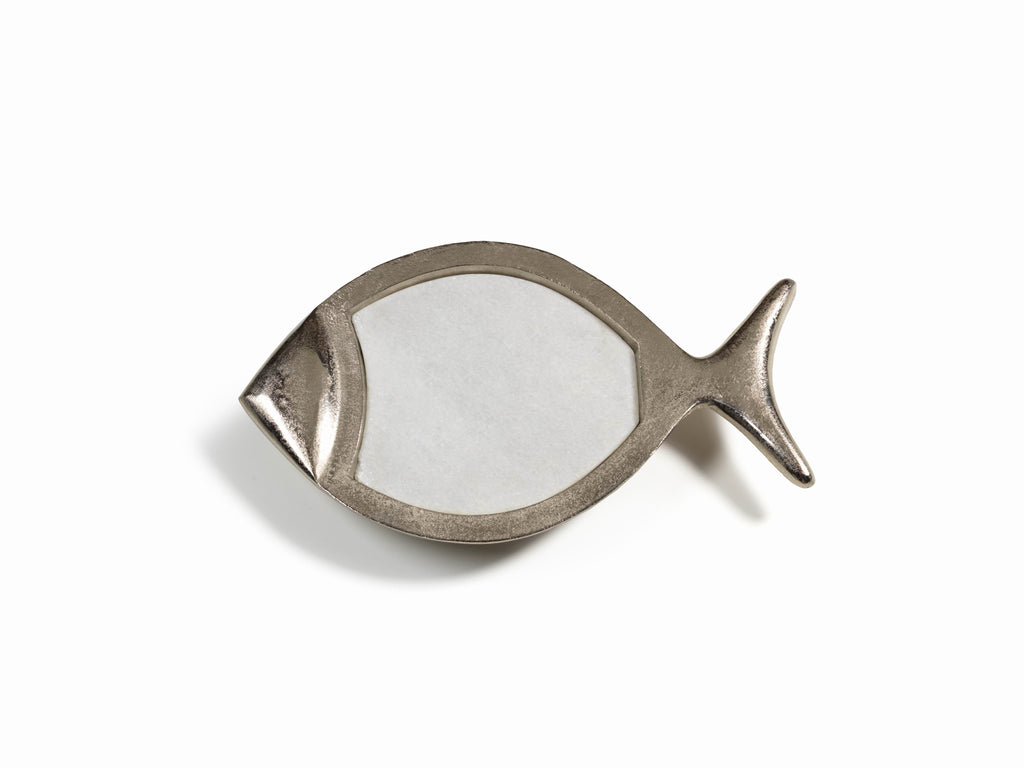 Cabo Fish Tray - Marble/Raw Aluminum