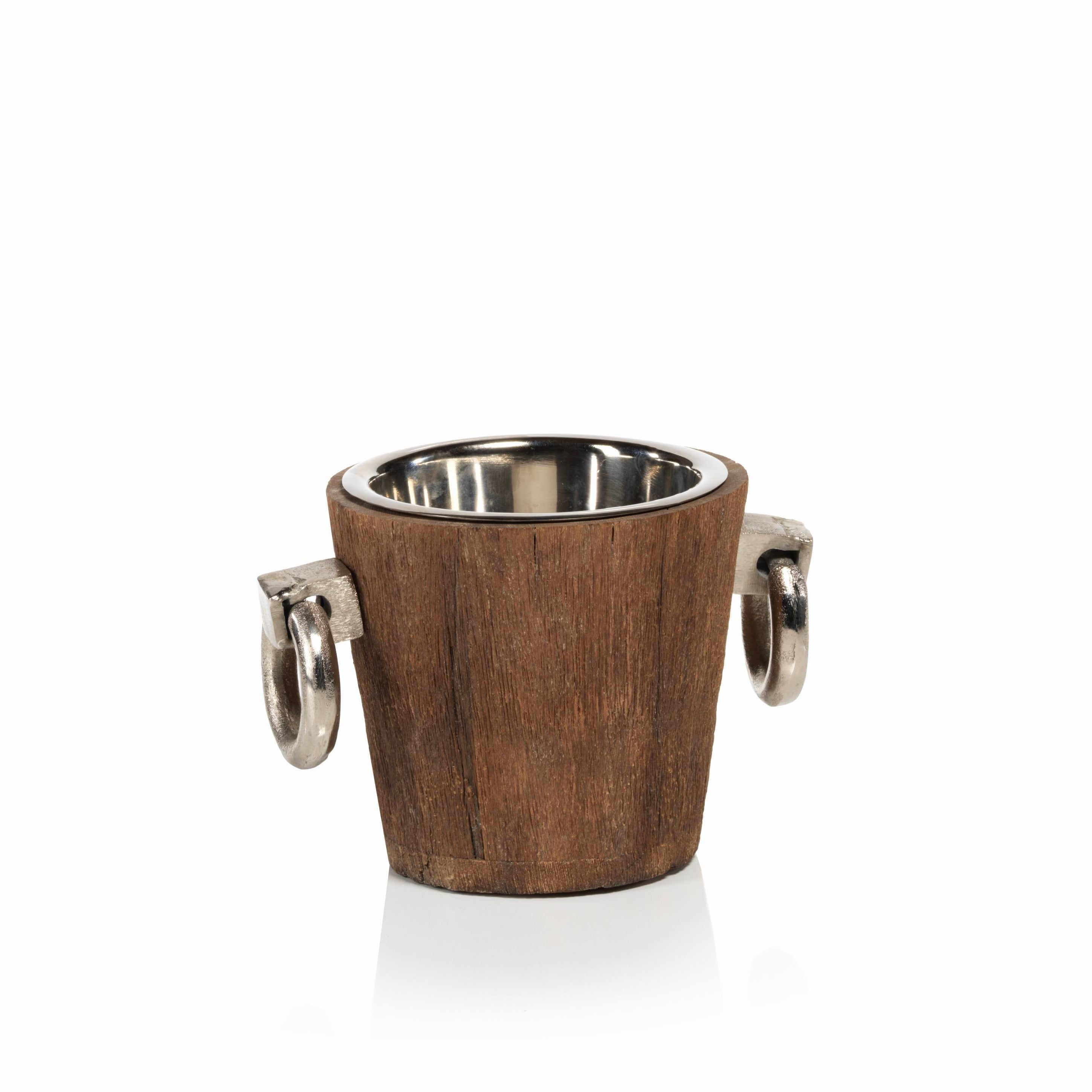 Reclaimed Wood/Metal Bucket - Small - CARLYLE AVENUE
