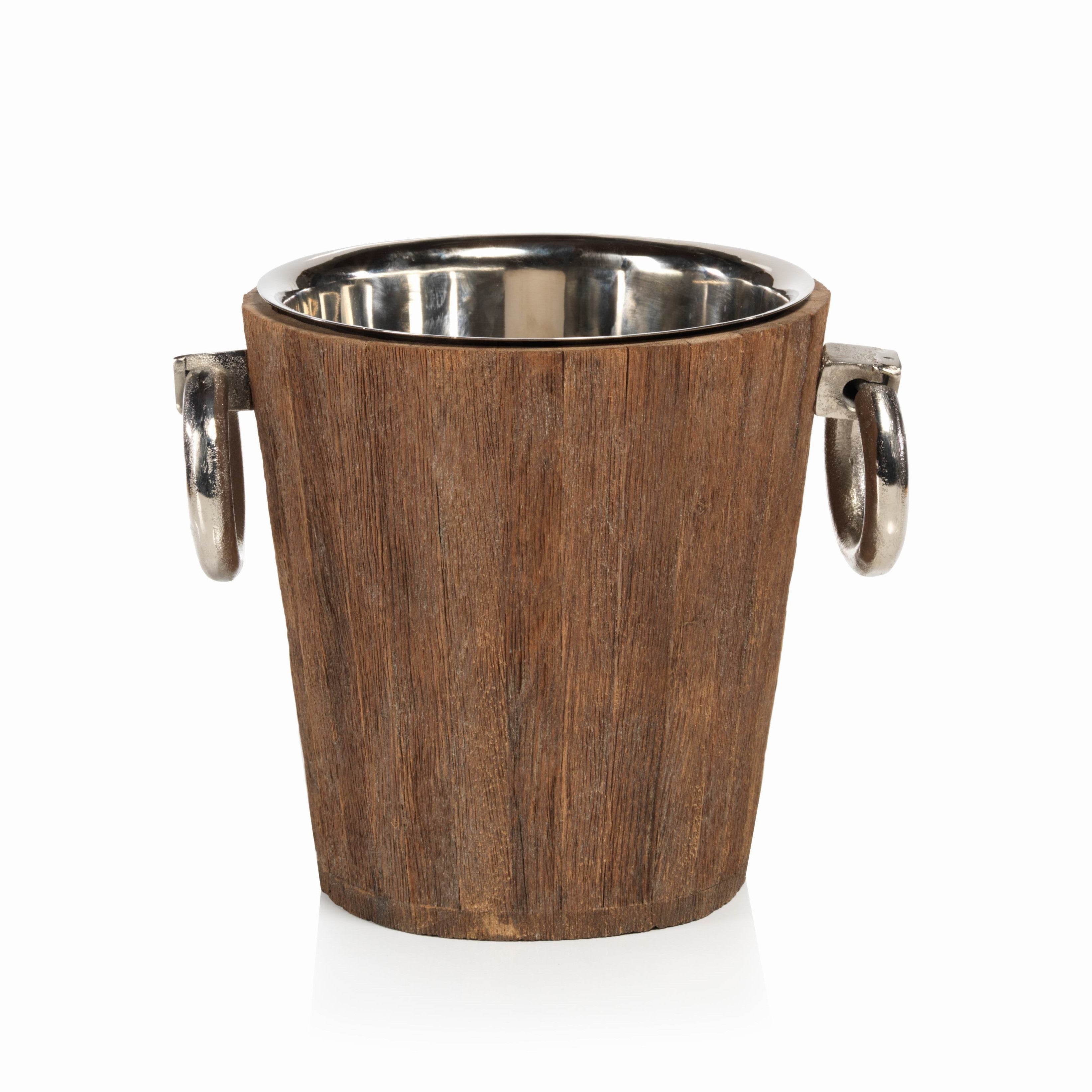 Reclaimed Wood/Metal Bucket - Large - CARLYLE AVENUE