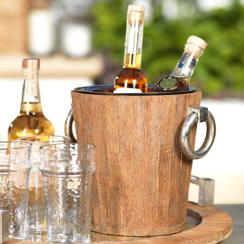 Reclaimed Wood/Metal Bucket - Large