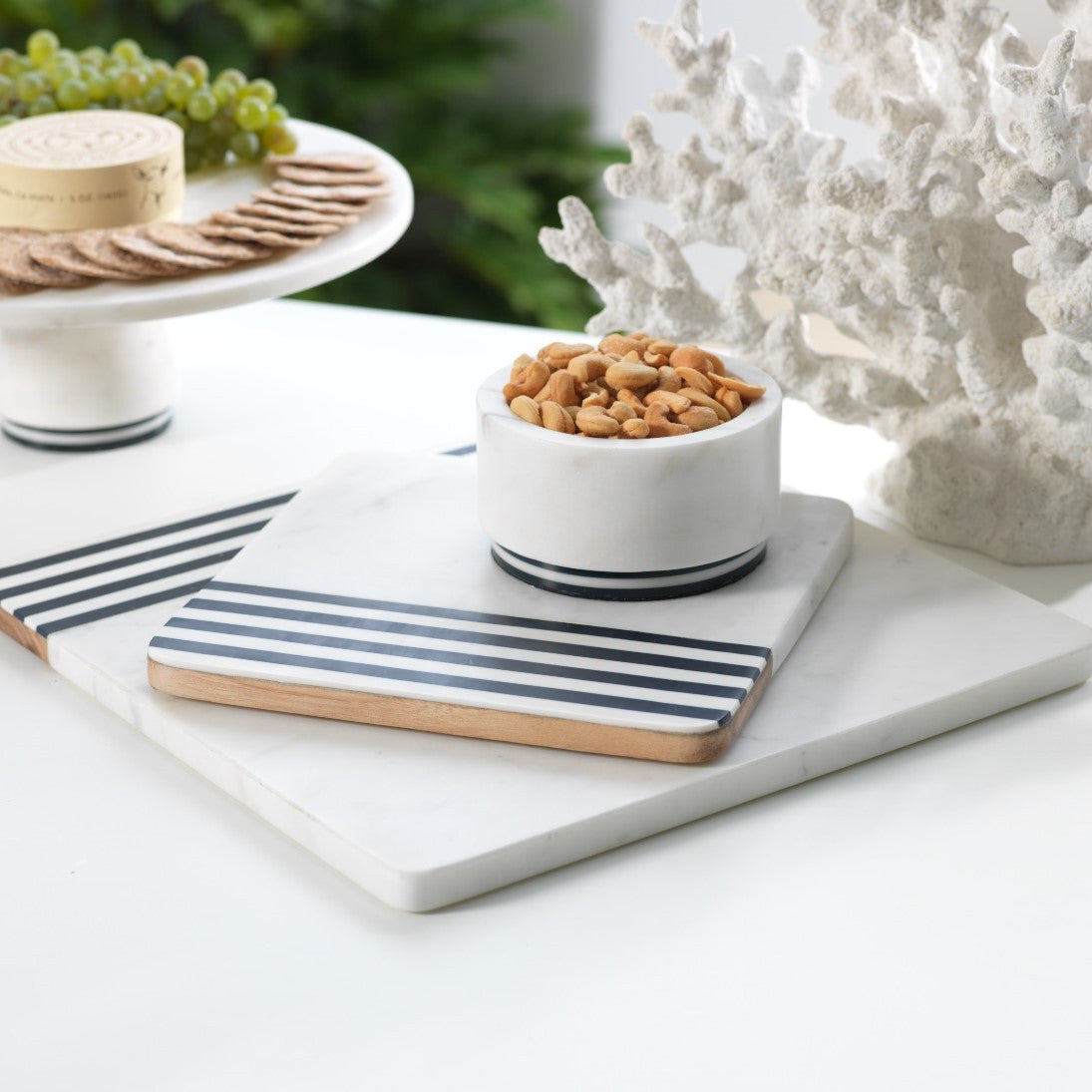 Marine Marble and Wood Cheese Board - CARLYLE AVENUE