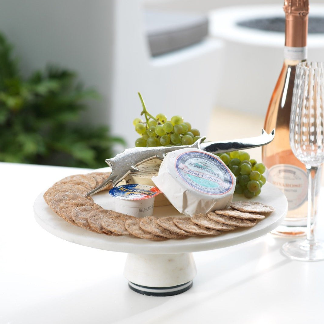 Marine Marble Cake Stand / Cheese Board