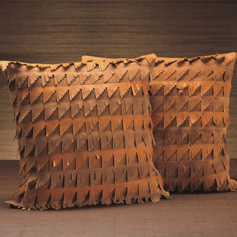 Leather & Suede Throw Pillow