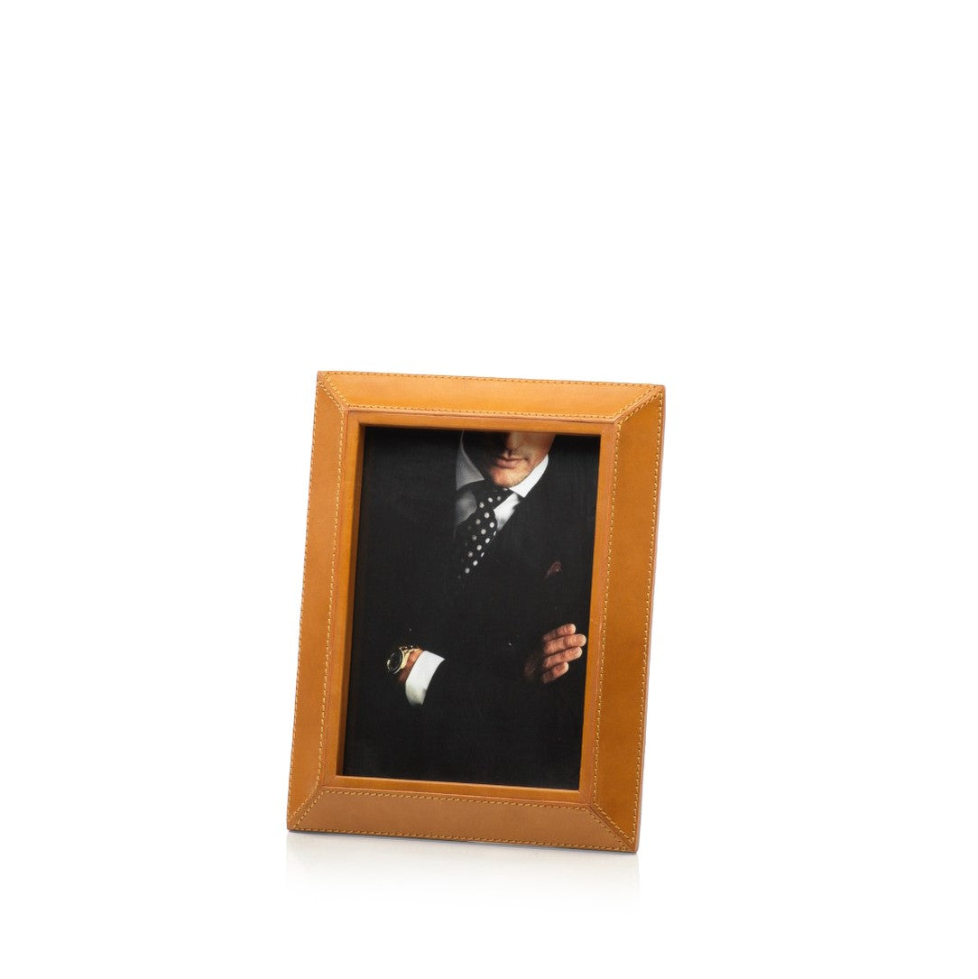 Leather Picture Frame - Tan - CARLYLE AVENUE