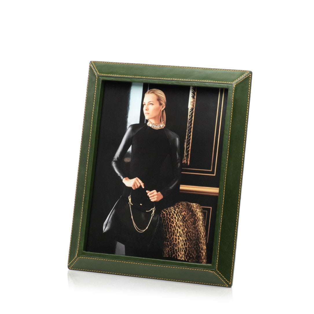 Leather Picture Frame - Green