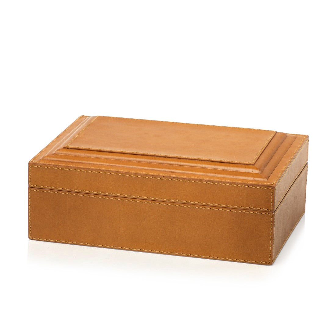 Leather Box - Tan - Clearance