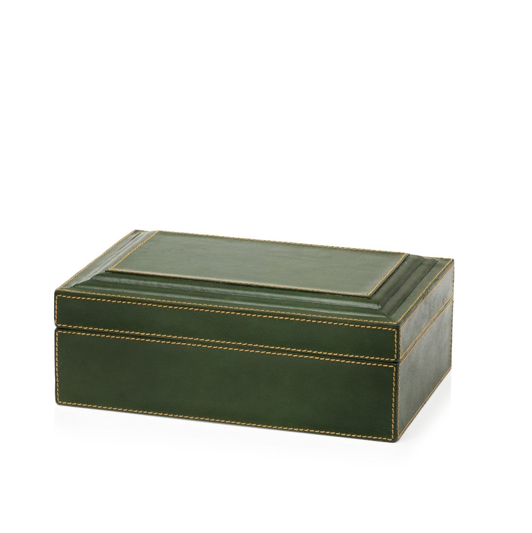 Leather Box - Green