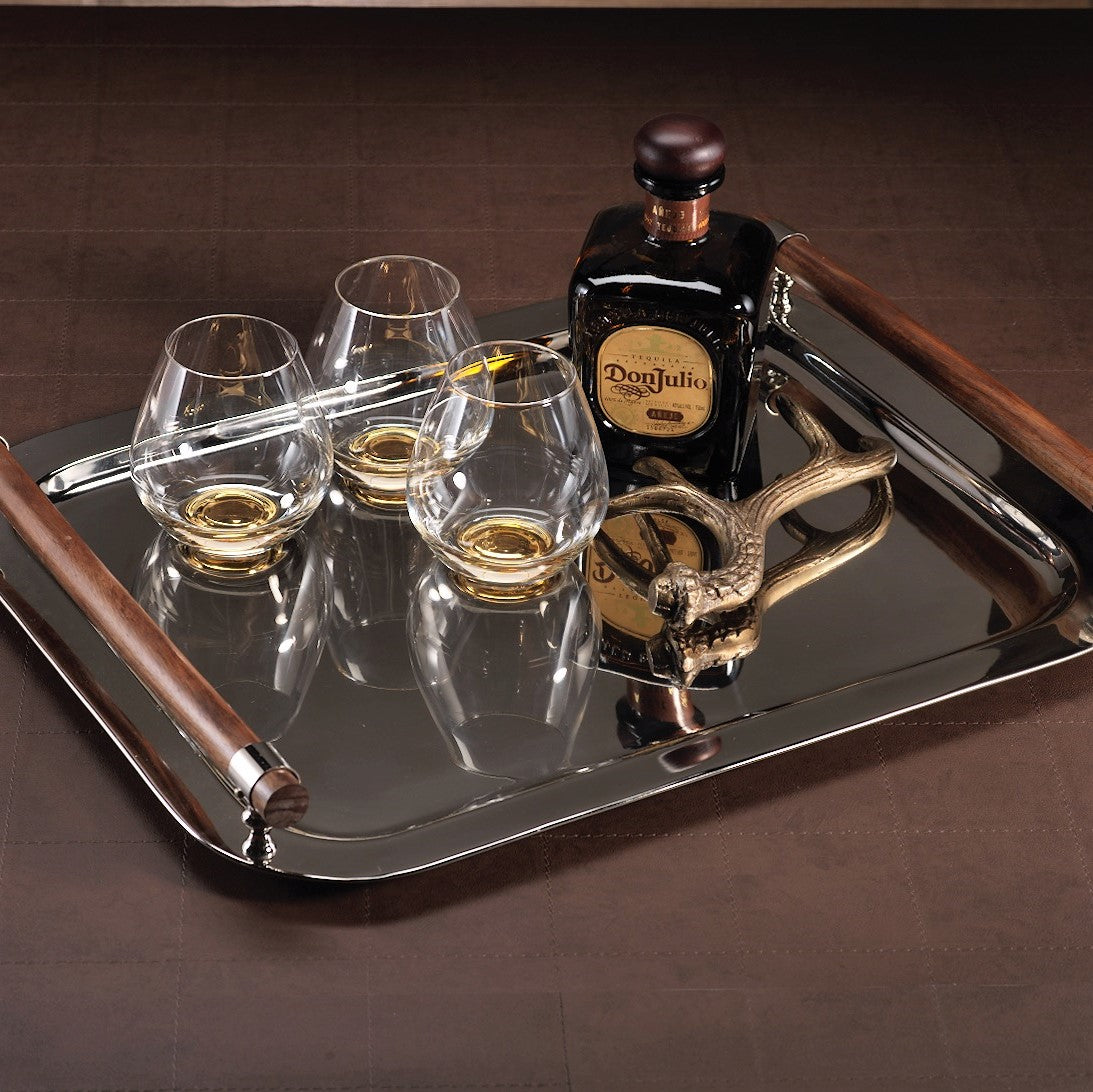 Rectangular Serving Tray w/ Wooden Handles