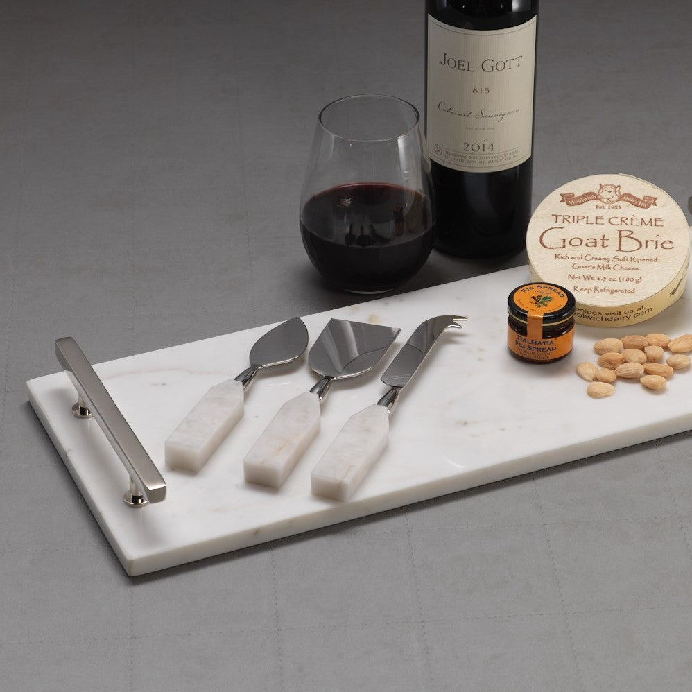 Alabaster 3 Piece Cheese Set - CARLYLE AVENUE