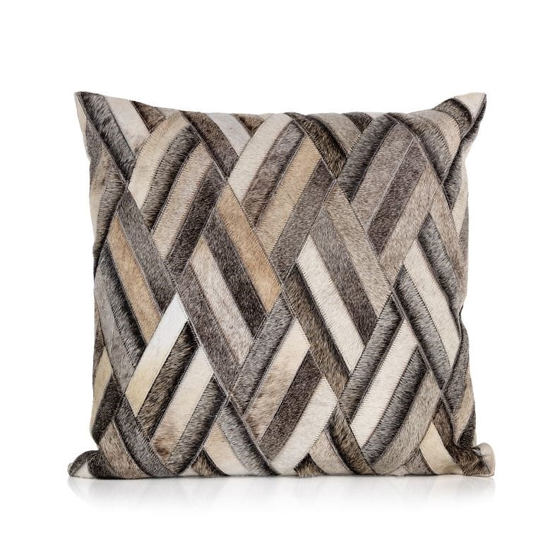 Aman Hairon Hide Pillow Collection - CARLYLE AVENUE