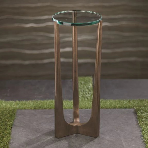 Cortina Drink Table w/Glass Top - CARLYLE AVENUE